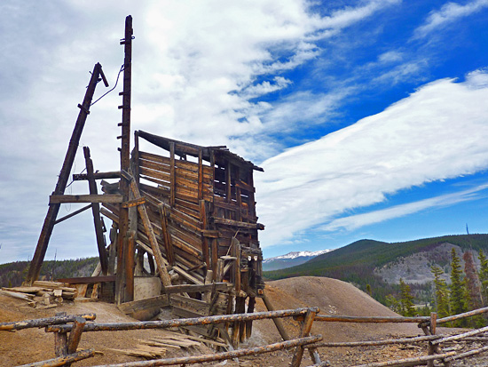 The historic Sallie Barber Mine site still has most of its original equipment