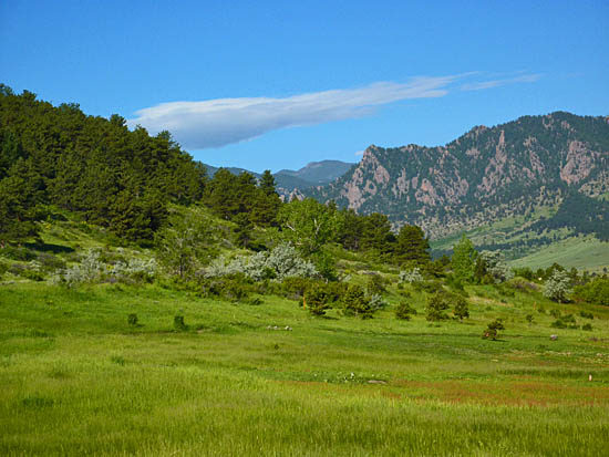 Open space with views of Eldorado Canyon from the Marshall Valley Trail