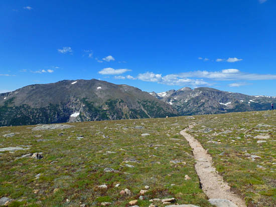 The Ute Trail passes through miles of open tundra on Tombstone Ridge