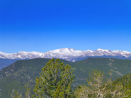 View of the Mt Evans massif from Bergen Peak