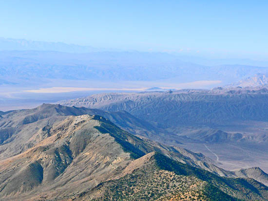 Views from a steep, thin saddle below Telescope Peak